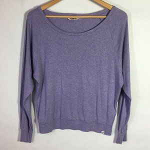 TNA Aritzia  Basic Long Sleeve Shirt Medium Purple